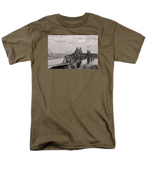 Bridges At Vicksburg Mississippi Men's T-Shirt  (Regular Fit) by Don Spenner