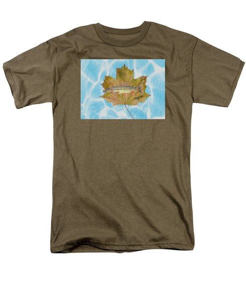 Brook Trout On Fly Men's T-Shirt  (Regular Fit) by Ralph Root