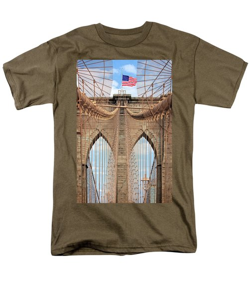 Men's T-Shirt  (Regular Fit) featuring the photograph Brooklyn Bridge 2  by Emmanuel Panagiotakis