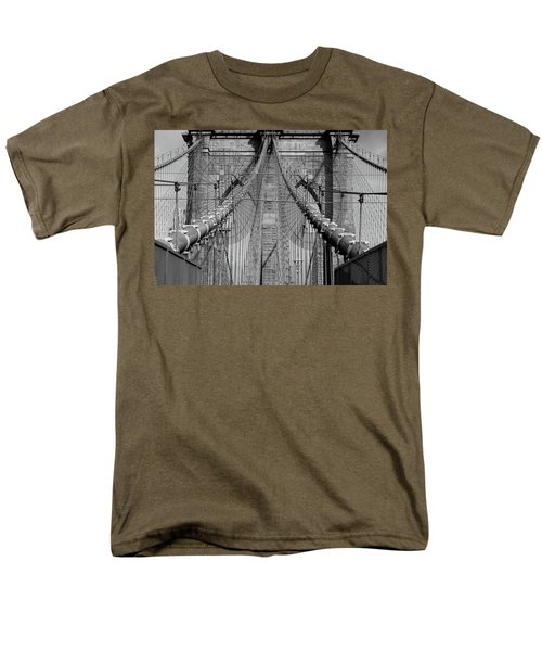 Men's T-Shirt  (Regular Fit) featuring the photograph Brooklyn Bridge by Emmanuel Panagiotakis