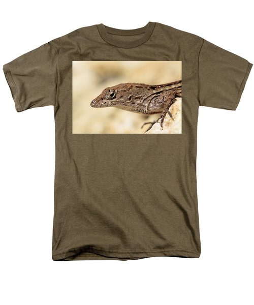 Men's T-Shirt  (Regular Fit) featuring the photograph Brown Anole by Doris Potter