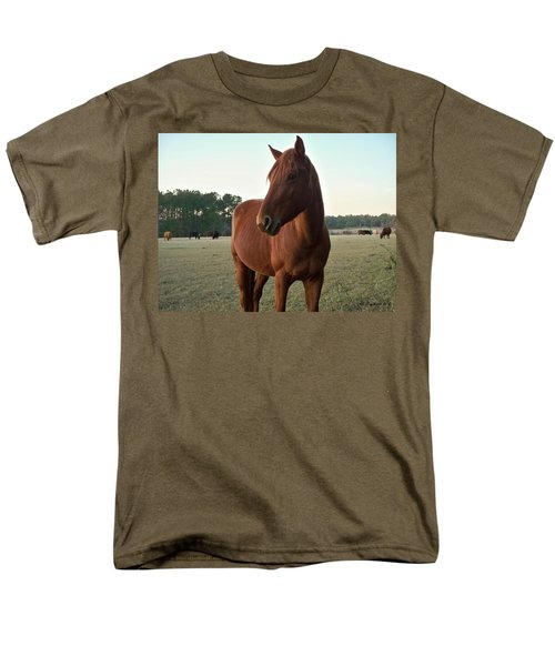 Men's T-Shirt  (Regular Fit) featuring the photograph Brown Beauty by Betty Northcutt