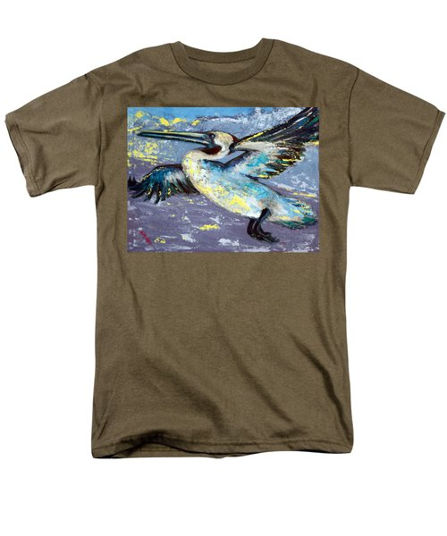 Men's T-Shirt  (Regular Fit) featuring the painting Brownie Into The Sunset by Suzanne McKee