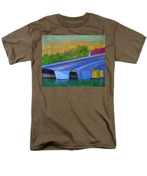 Men's T-Shirt  (Regular Fit) featuring the painting Brunswick River Bridge by Paul McKey