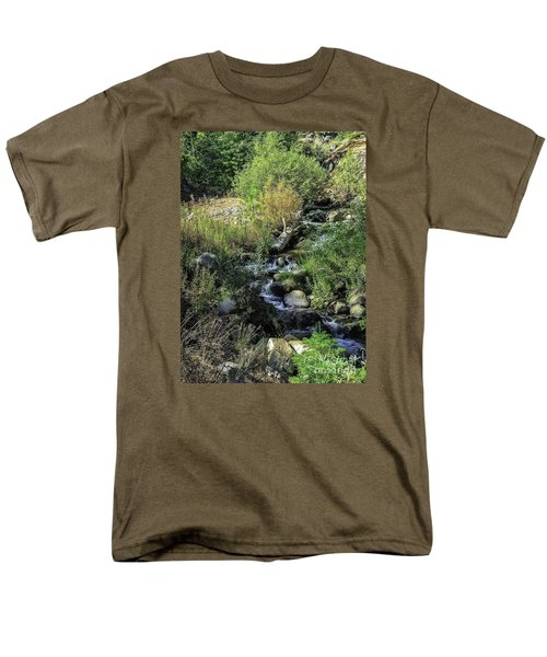 Bubbling Brook Men's T-Shirt  (Regular Fit) by Nancy Marie Ricketts