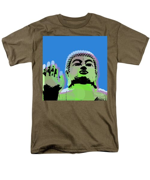Men's T-Shirt  (Regular Fit) featuring the digital art Buddha Warhol Style by Jean luc Comperat