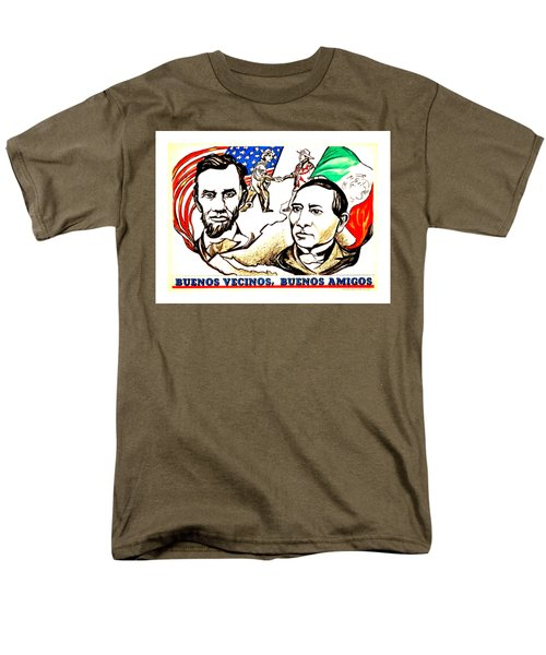 Buenos Vecinos Buenos Amigos 1944 Mexican American Friendship II Pablo O Higgins Men's T-Shirt  (Regular Fit) by Peter Gumaer Ogden Collection