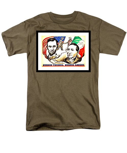 Buenos Vecinos Buenos Amigos 1944 Mexican American Friendship By Pablo O Higgins Men's T-Shirt  (Regular Fit) by Peter Gumaer Ogden Collection