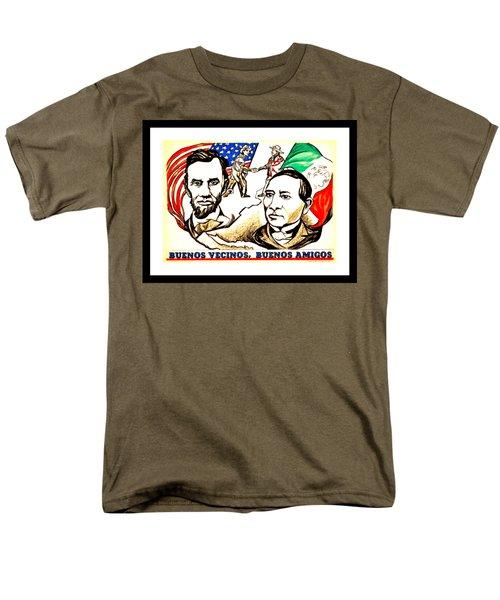 Buenos Vecinos Buenos Amigos 1944 Mexican American Friendship By Pablo O Higgins Men's T-Shirt  (Regular Fit)