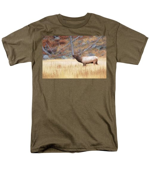 Men's T-Shirt  (Regular Fit) featuring the photograph Bull Elk by Kelly Marquardt