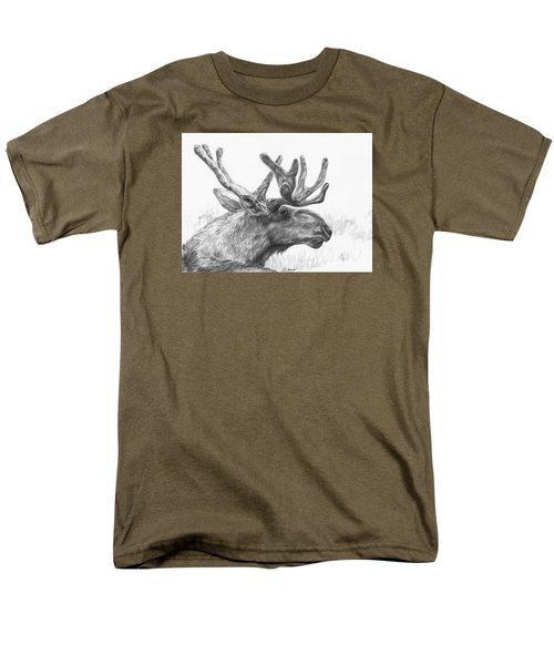 Men's T-Shirt  (Regular Fit) featuring the drawing Bull Moose Study by Meagan  Visser