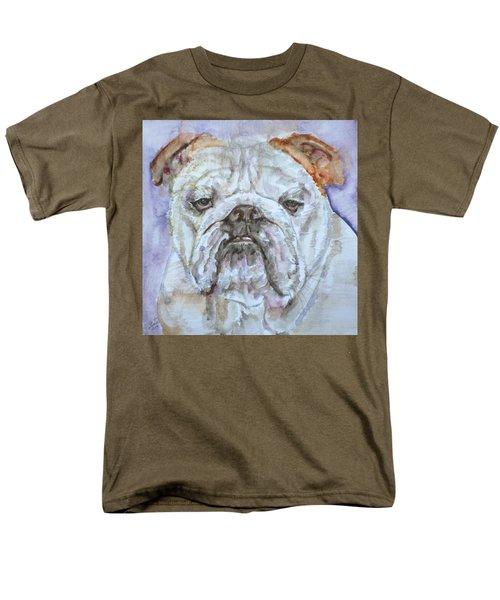 Men's T-Shirt  (Regular Fit) featuring the painting Bulldog - Watercolor Portrait.5 by Fabrizio Cassetta