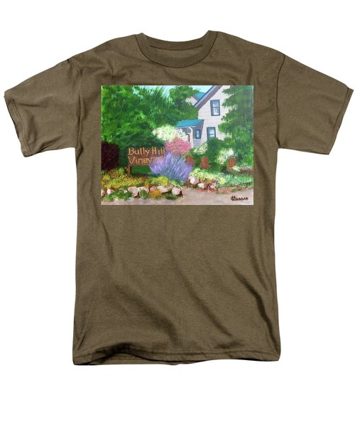 Bully Hill Vineyard Men's T-Shirt  (Regular Fit) by Cynthia Morgan