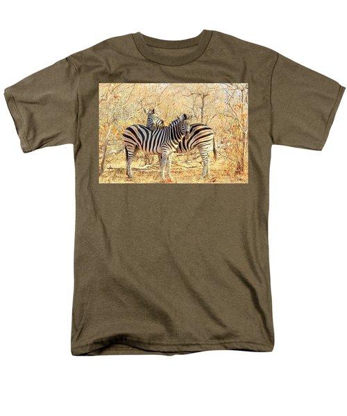Burchells Zebras Men's T-Shirt  (Regular Fit) by Betty-Anne McDonald