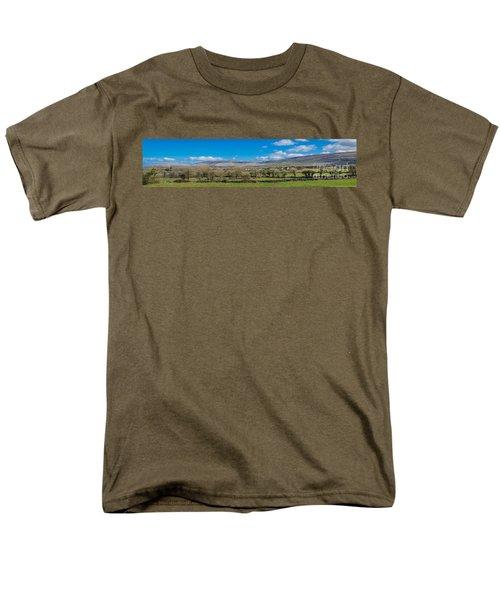 Men's T-Shirt  (Regular Fit) featuring the photograph Burren Panorama by Juergen Klust