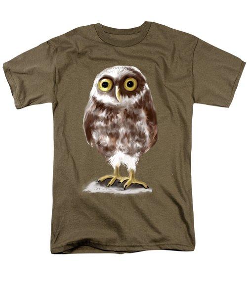 Burrowing Owl Men's T-Shirt  (Regular Fit) by Jean Pacheco Ravinski