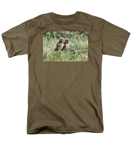 Burrowing Owlets Near Barr Lake Men's T-Shirt  (Regular Fit) by Stephen  Johnson
