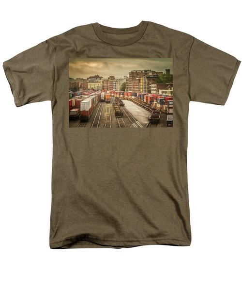 Men's T-Shirt  (Regular Fit) featuring the photograph Busines End Of The City... by Russell Styles