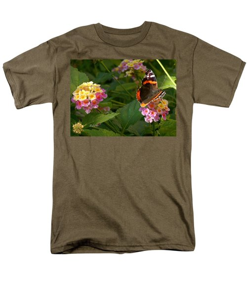 Men's T-Shirt  (Regular Fit) featuring the photograph Busy Butterfly Side 1 by Felipe Adan Lerma