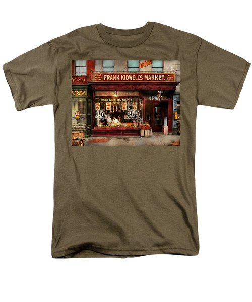 Men's T-Shirt  (Regular Fit) featuring the photograph Butcher - Meat Priced Right 1916 by Mike Savad