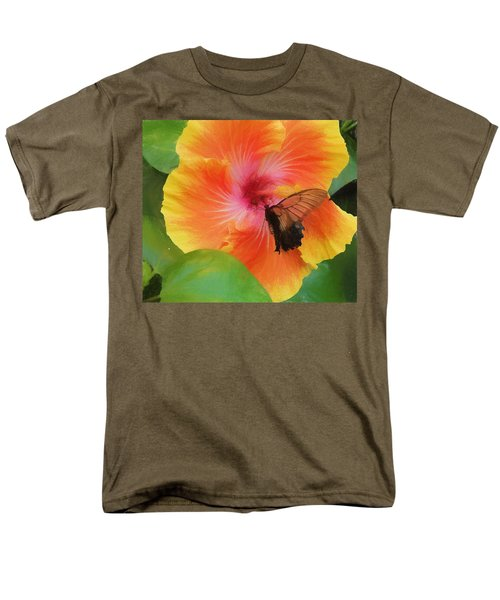 Men's T-Shirt  (Regular Fit) featuring the photograph Butterfly Botanical by Kathy Bassett