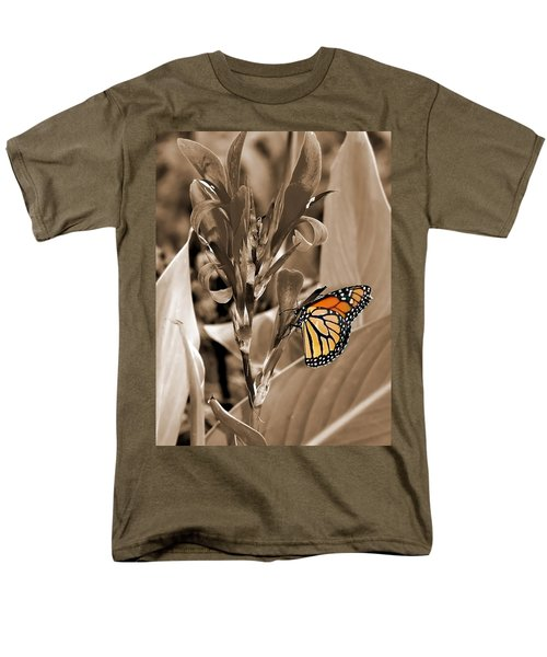 Butterfly In Sepia Men's T-Shirt  (Regular Fit) by Lauren Radke