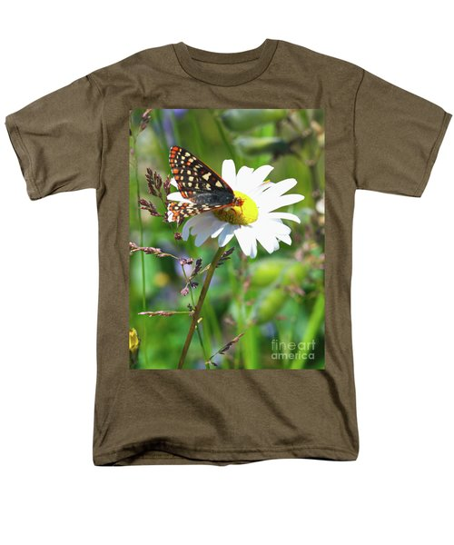 Butterfly On A Wild Daisy Men's T-Shirt  (Regular Fit) by Ansel Price