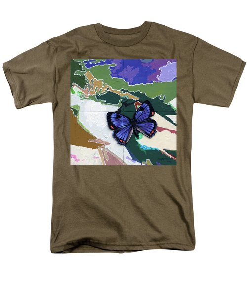 Butterfly Over Great Lakes Men's T-Shirt  (Regular Fit) by John Lautermilch