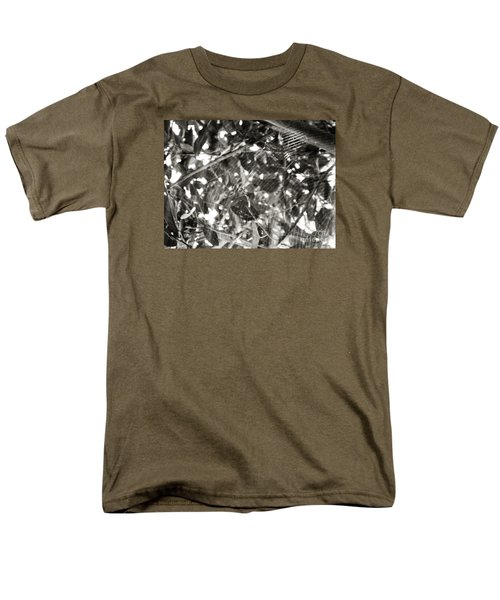 Men's T-Shirt  (Regular Fit) featuring the photograph Bw Cobweb Tree by Megan Dirsa-DuBois