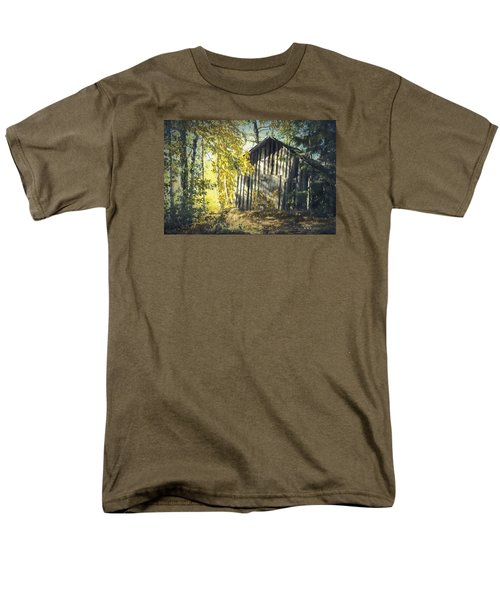 Men's T-Shirt  (Regular Fit) featuring the painting By The Old Paths by Rose-Maries Pictures