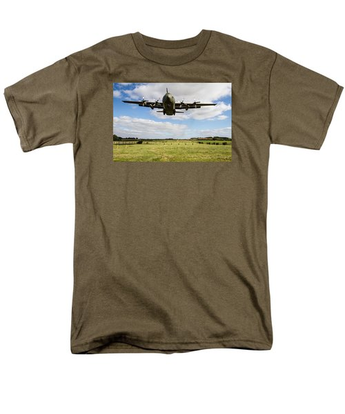C130 Hercules Landing Men's T-Shirt  (Regular Fit) by Ken Brannen