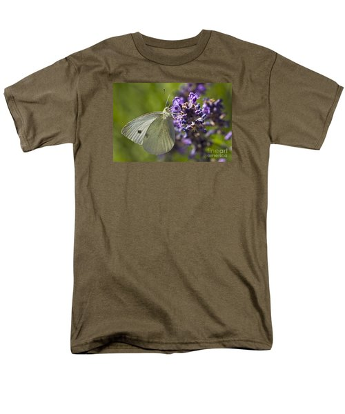 Men's T-Shirt  (Regular Fit) featuring the photograph Cabbage White Butterfly by Inge Riis McDonald