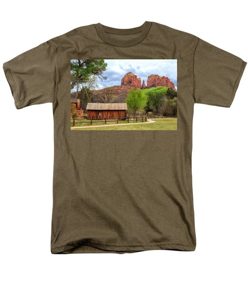 Men's T-Shirt  (Regular Fit) featuring the photograph Cabin At Cathedral Rock by James Eddy