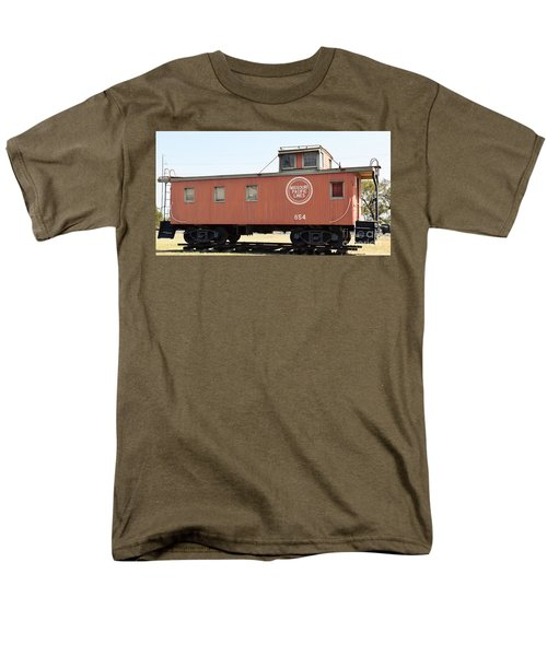 Men's T-Shirt  (Regular Fit) featuring the photograph Caboose by Ray Shrewsberry