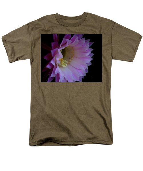 Men's T-Shirt  (Regular Fit) featuring the painting Cactus Easter Lily Bright by Marna Edwards Flavell
