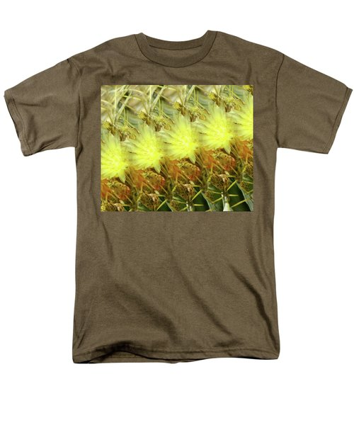 Men's T-Shirt  (Regular Fit) featuring the photograph Cactus Flowers by Kathy Bassett