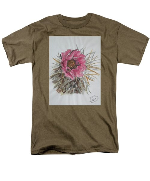 Men's T-Shirt  (Regular Fit) featuring the painting Cactus Joy by Sharyn Winters