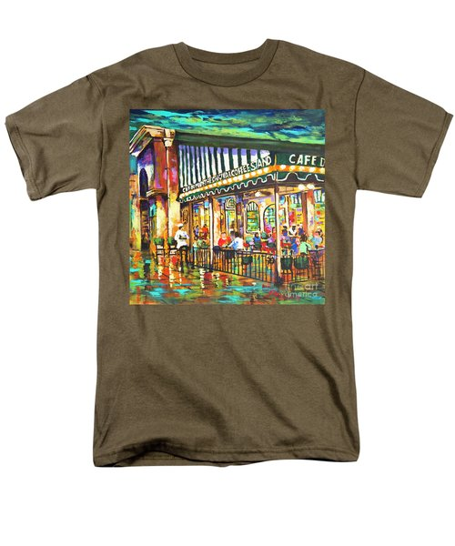 Men's T-Shirt  (Regular Fit) featuring the painting Cafe Du Monde Night by Dianne Parks