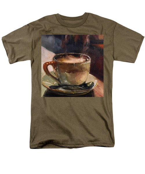 Cafe Love Coffee Painting Men's T-Shirt  (Regular Fit) by Michele Carter