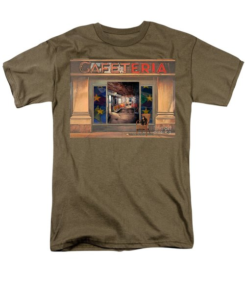 Men's T-Shirt  (Regular Fit) featuring the painting Cafeteria by Mojo Mendiola