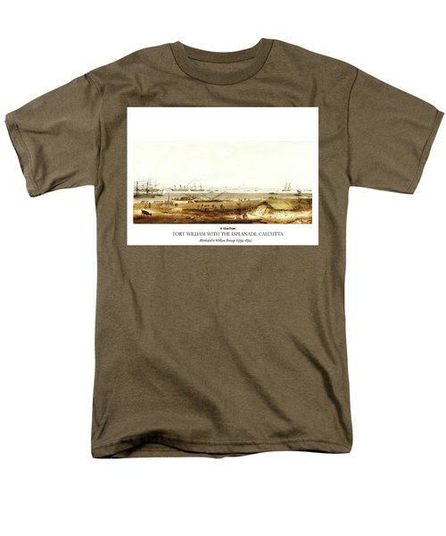 Men's T-Shirt  (Regular Fit) featuring the digital art Calcutta In 18th Century by Asok Mukhopadhyay