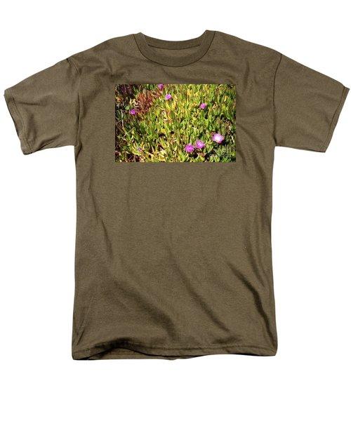California Coast Ice Plant Men's T-Shirt  (Regular Fit) by Ted Pollard