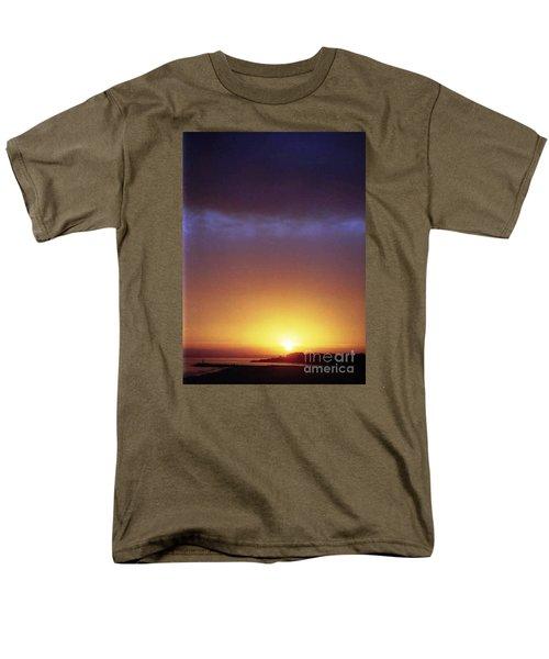 California Ocean Sunset Men's T-Shirt  (Regular Fit) by Ted Pollard