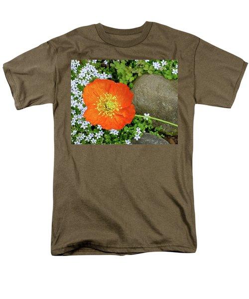 California Poppy Rock Garden Men's T-Shirt  (Regular Fit) by Shirley Heyn