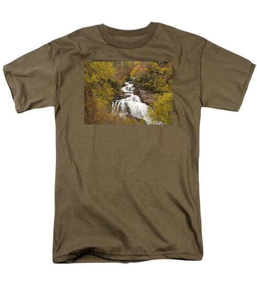 Men's T-Shirt  (Regular Fit) featuring the photograph Callasaja Falls- North Carolina by Penny Lisowski