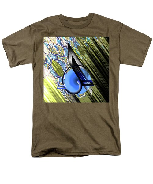 Men's T-Shirt  (Regular Fit) featuring the painting Calligraphy 103 4 by Mawra Tahreem