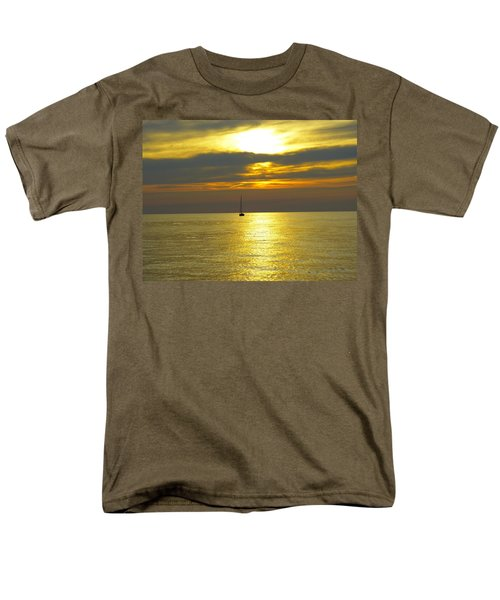 Men's T-Shirt  (Regular Fit) featuring the photograph Calm Before Sunset Over Lake Erie by Donald C Morgan