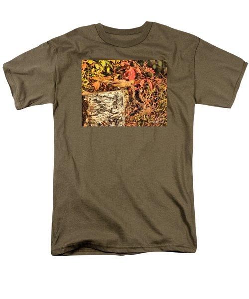 Men's T-Shirt  (Regular Fit) featuring the photograph Camo Bird by Debbie Stahre