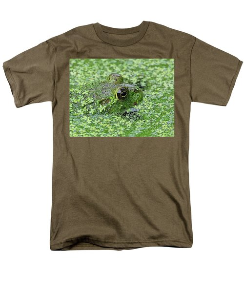 Camo Frog Men's T-Shirt  (Regular Fit) by Ronda Ryan