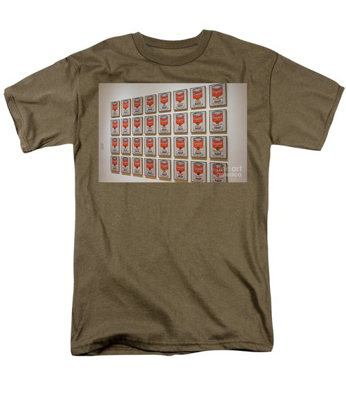Men's T-Shirt  (Regular Fit) featuring the photograph Campbell Soup By Warhol by Patricia Hofmeester